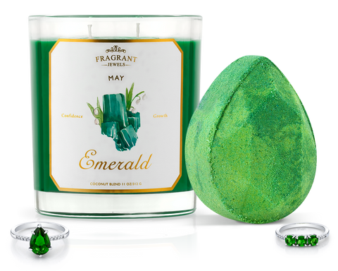 Emerald - May Birthstone Collection - Candle and Bath Bomb Set - Inner Circle