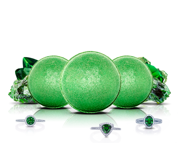 May Birthstone: Emerald Bath Bomb Trio