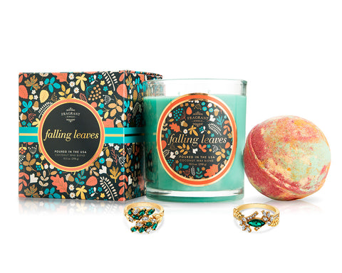 Falling Leaves - Fall Collection 2018 - Candle and Bath Bomb Set