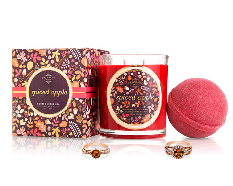 Spiced Apple - Fall Collection 2018 - Candle and Bath Bomb Set - Inner Circle