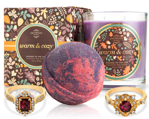 Warm and Cozy - Fall Collection 2018 - Candle and Bath Bomb Set