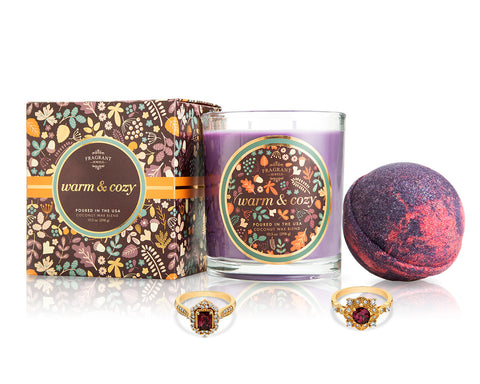 Warm and Cozy - Fall Collection 2018 - Candle and Bath Bomb Set - Inner Circle