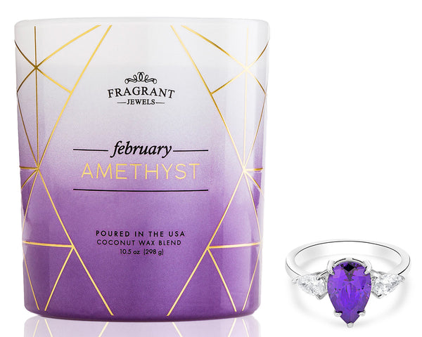 Amethyst Crystal Ring Candle