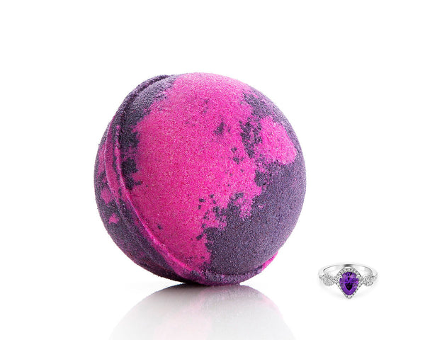 Amethyst Crystal Ring Bath Bomb