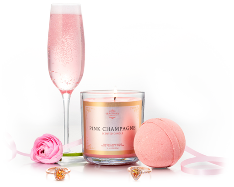 Pink Champagne - Candle & Bath Bomb Gift Set