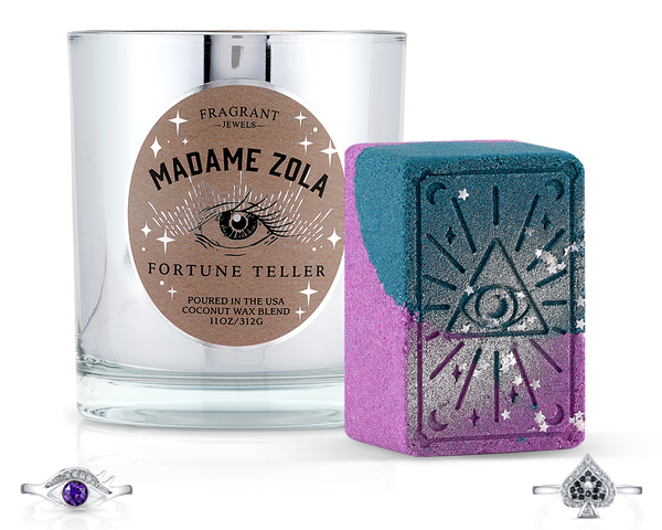 Madame Zola Fortune Teller - Candle and Bath Bomb Set