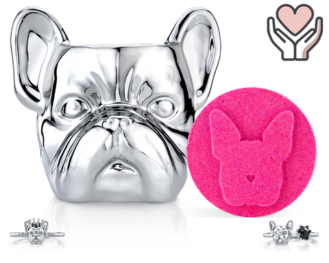 French Bulldog - Furry Friends Collection - Candle and Bath Bomb Set - Inner Circle