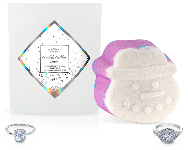 Fresh Fallen Snow - Candle and Bath Bomb Set - Inner Circle