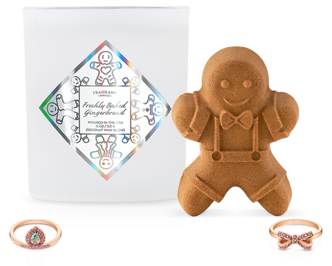 Freshly Baked Gingerbread - Candle and Bath Bomb Set - Inner Circle