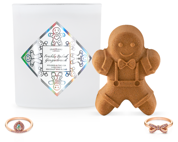 Freshly Baked Gingerbread - Candle and Bath Bomb Set
