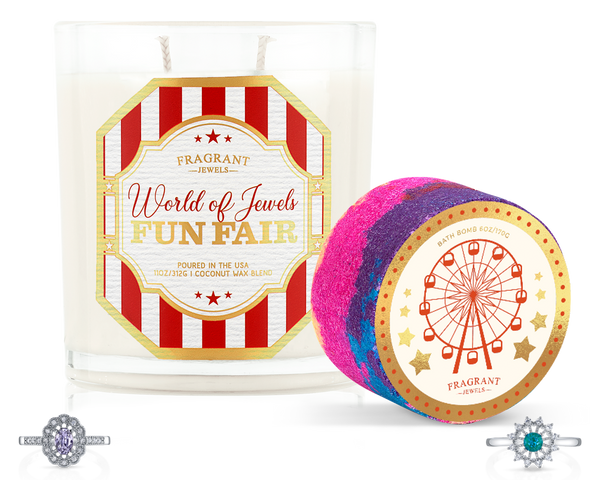 World of Jewels Fun Fair - Candle and Bath Bomb Set