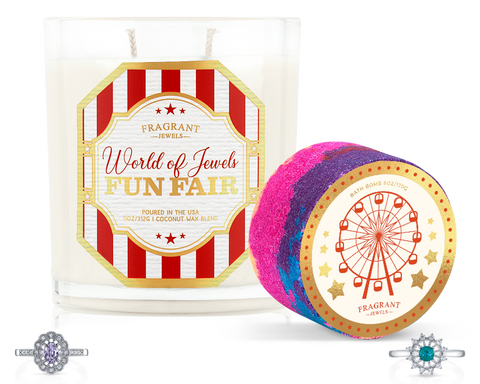 World of Jewels Fun Fair - Candle and Bath Bomb Set - Inner Circle