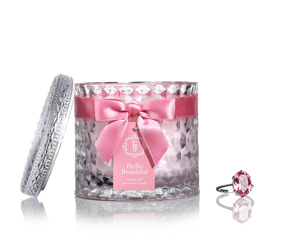 Hello Beautiful - Infinity Collection Jewel Candle with Swarovski Crystals