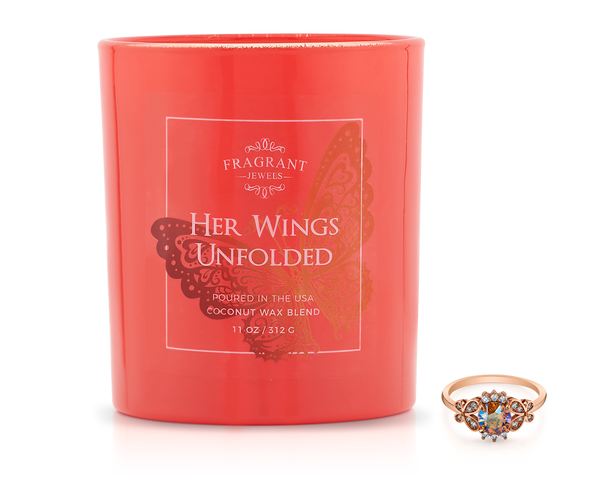 Her Wings Unfolded - Jewel Candle