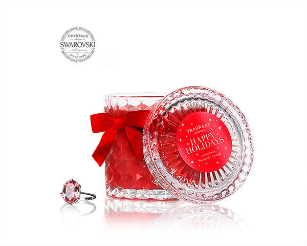 Happy Holidays - Jewel Candle with Swarovski Crystals