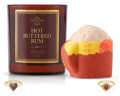 Hot Buttered Rum - Candle and Bath Bomb Set - Inner Circle