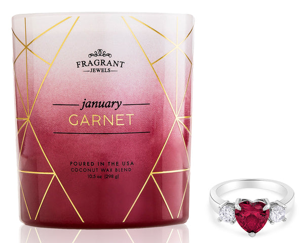 Garnet: January Birthstone - Jewel Candle