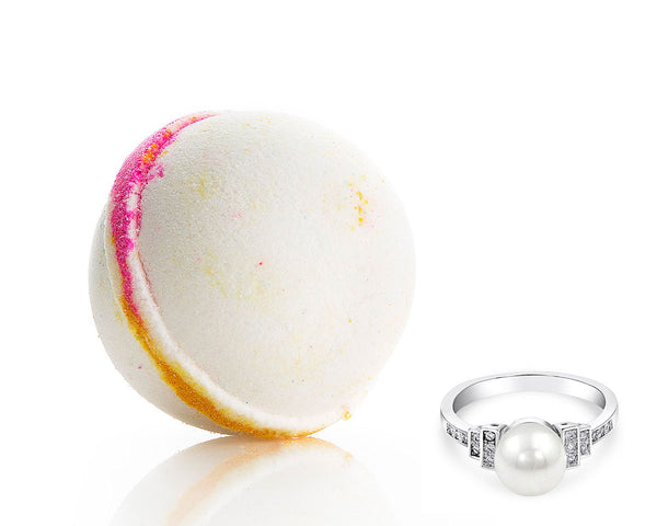 Bath Bomb with Pearl Ring