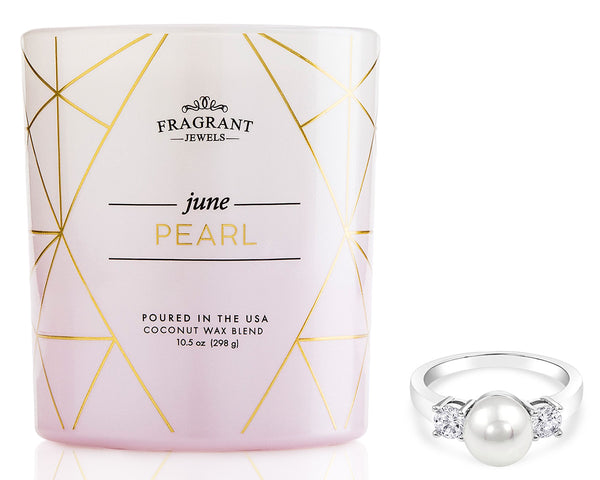 Candle with Pearl Ring