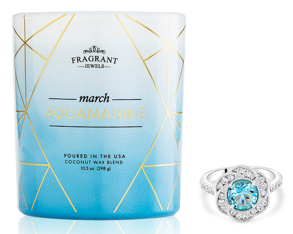 Aquamarine Ring Candle
