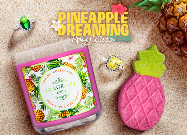 Pineapple Dreaming - Candle & Bath Bomb Gift Set