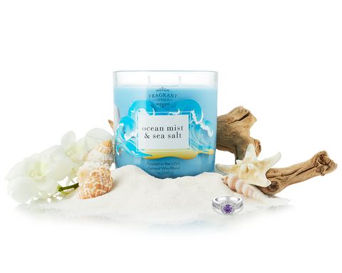Ocean Mist and Sea Salt - Jewel Candle