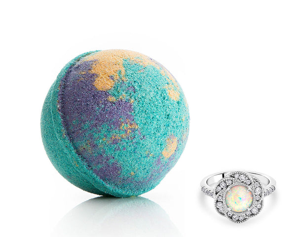 Bath Bomb with Opal Ring