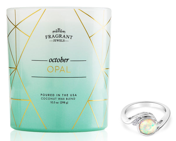 Candle with Opal Ring