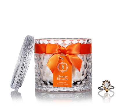 Orange Blossom - Infinity Collection Jewel Candle with Swarovski Crystals