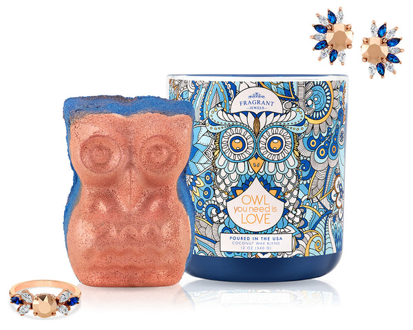 Owl You Need is Love - Candle and Bath Bomb Set