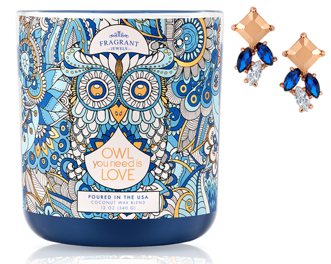 Owl You Need is Love - Jewel Candle