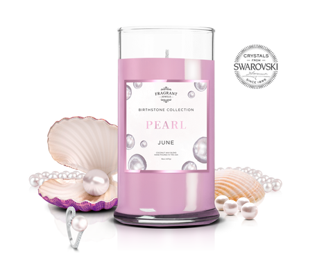 June Birthstone: Pearl Jewel Candle