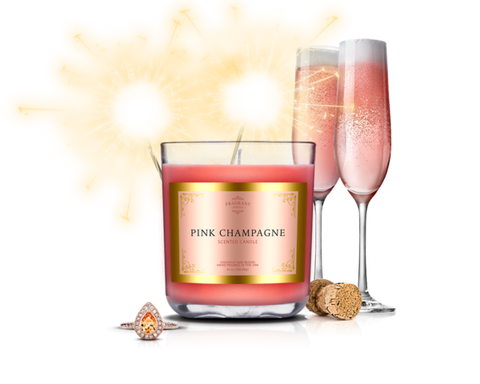Pink Champagne - Jewel Candle