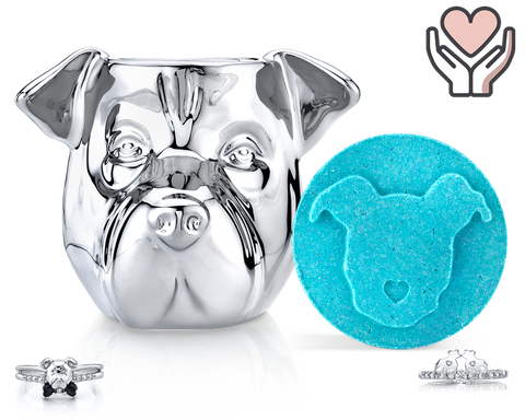 Pitbull - Furry Friends Collection - Candle and Bath Bomb Set - Inner Circle