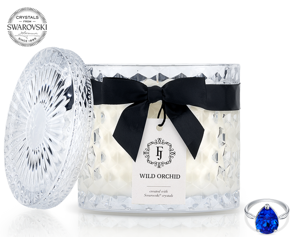 Wild Orchid - Black Satin - Jewel Candle