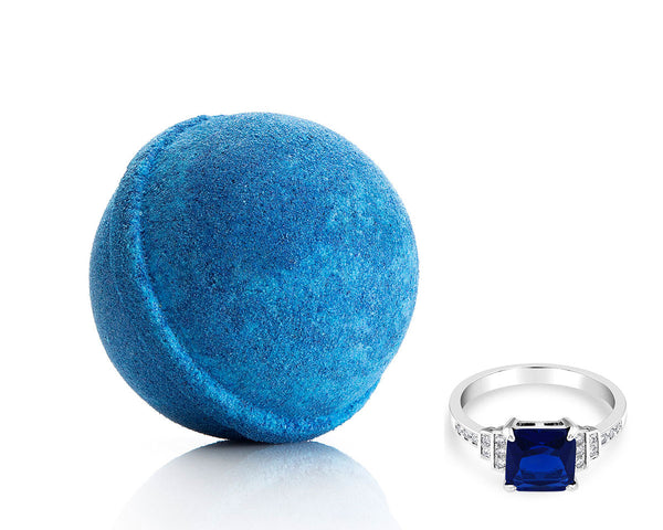 Sapphire Bath Bomb with Sapphire Ring