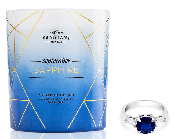 Sapphire Candle with Sapphire Ring