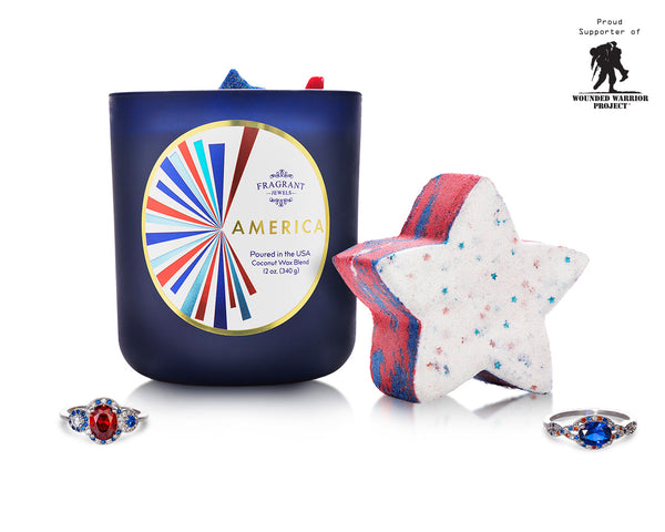 America - Candle and Bath Bomb Set