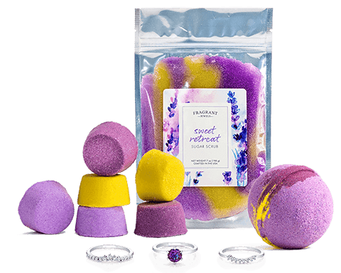 Treat Yourself Rings Bath Bombs and Ring Body Scrub