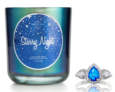Starry Night Jewel Candle