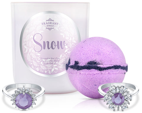 Snow 2018 - Candle and Bath Bomb Set - Inner Circle