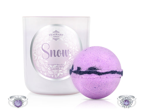 Snow 2018 - Candle and Bath Bomb Set