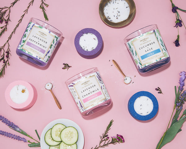 Relax - Candle and Bath Bomb Set