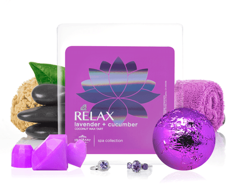Relax - Bath Bomb & Wax Tarts Gift Set