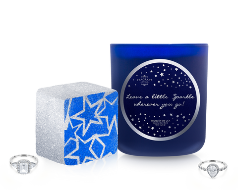 Leave a Little Sparkle - Candle and Bath Bomb Gift Set