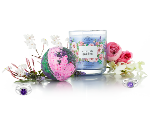 English Garden - Candle and Bath Bomb Gift Set