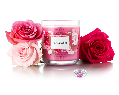 Rosewater - Jewel Candle