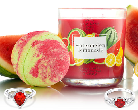 Watermelon Lemonade - Candle and Bath Bomb Gift Set