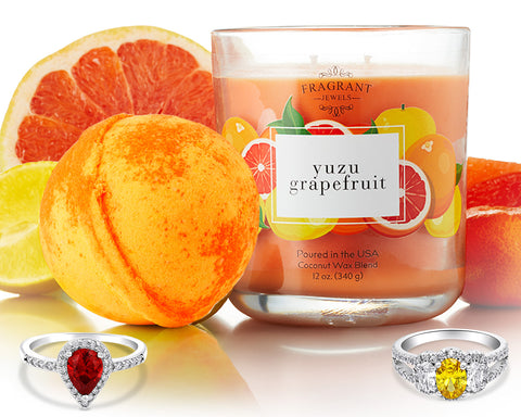 Yuzu Grapefruit - Candle and Bath Bomb Gift Set
