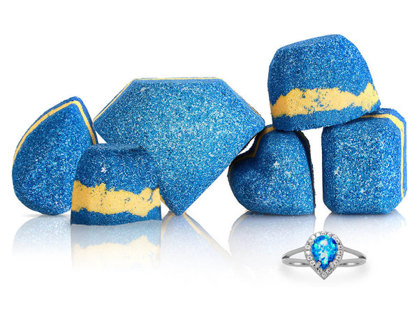 Starry Night Mini Bath Bombs with Ring